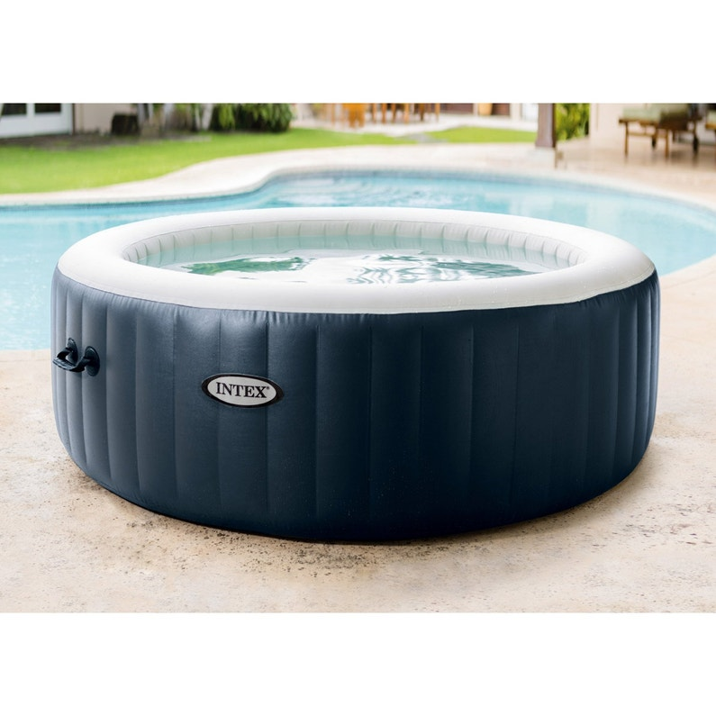 Spa Gonflable Intex Purespa Bulles Blue Navy Rond 6 Places Assises