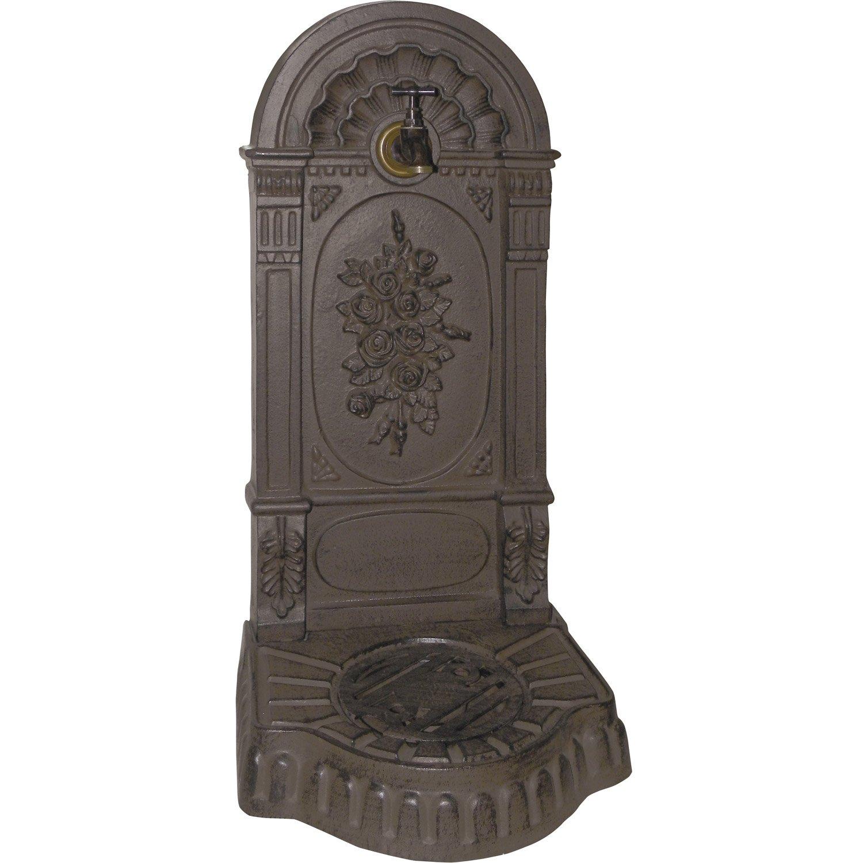 fontaine de jardin en fonte rouille roses leroy merlin. Black Bedroom Furniture Sets. Home Design Ideas