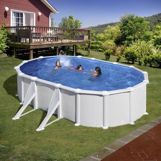 Piscine hors sol acier san clara gre l x l x h m leroy merlin - Destockage piscine hors sol acier ...