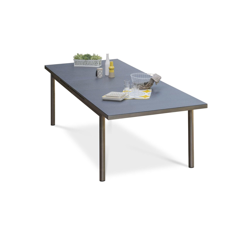 table de jardin palermo rectangulaire gris 6 10 personnes leroy merlin. Black Bedroom Furniture Sets. Home Design Ideas
