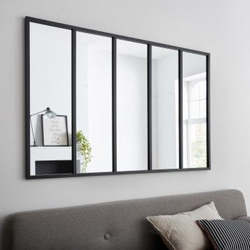 Miroir Rectangulaire Atelier Jardin Noir L136 X H86 Cm
