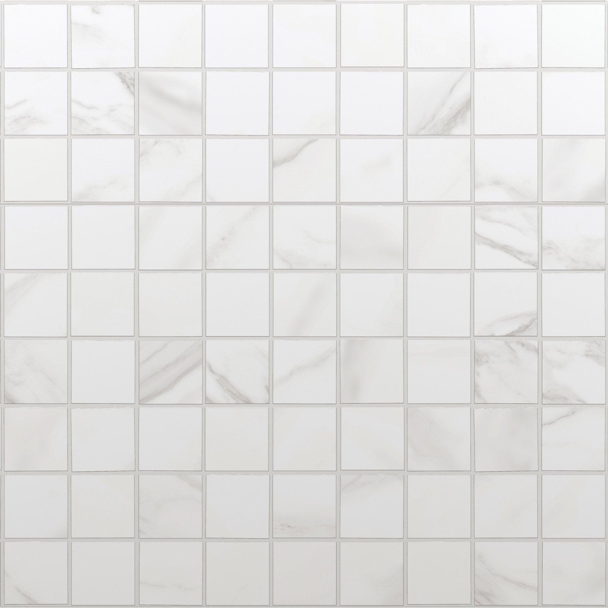 Mosaïque sol et mur Murano blanc carrare 30 x 30 cm