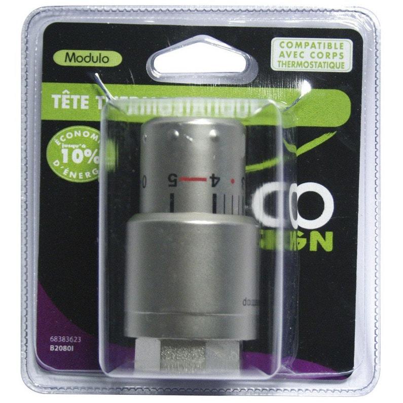 Tête De Robinet Thermostatique Femelle Femelle Laiton Inox Ecopro