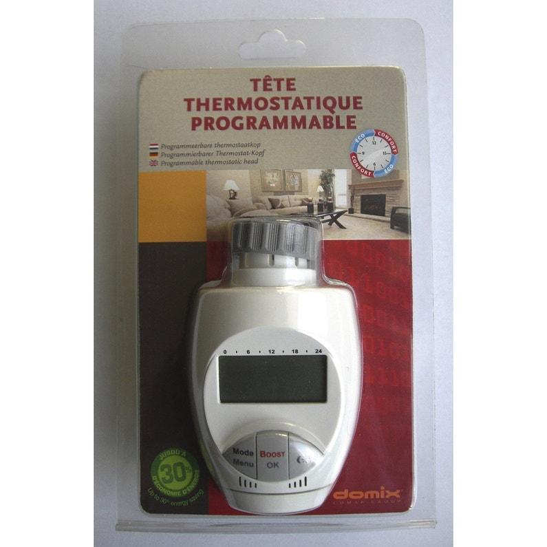 Tete De Robinet Thermostatique Pvc Blanc Comap Leroy Merlin