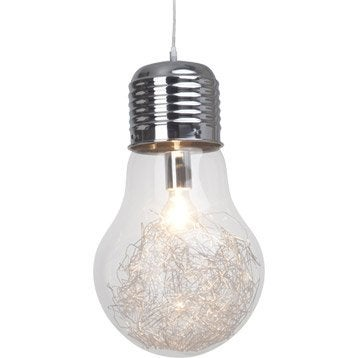 Suspension, e27 design Bulb verre transparent 1 x 60 W BRILLIANT