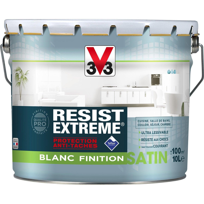 Peinture blanche mur, plaf et bois Resist'extrême V33 10l