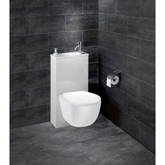 Wc suspendu wc abattant et lave mains toilette au - Pack toilette suspendu ...