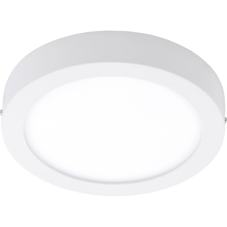 plafonnier design led integree fueva metal blanc 1 x 22 w eglo 5 Bon Marché Plafonnier Led Blanc Zzt4