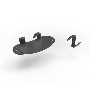 Accessoire pour lave-mains inox noir l.17 x P.8 cm, Smart