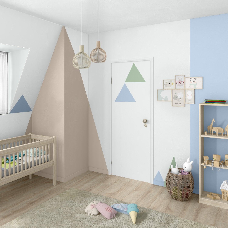 Chambre Bébé Blanc / Beige / Naturel Bleu LUXENS Scandinave