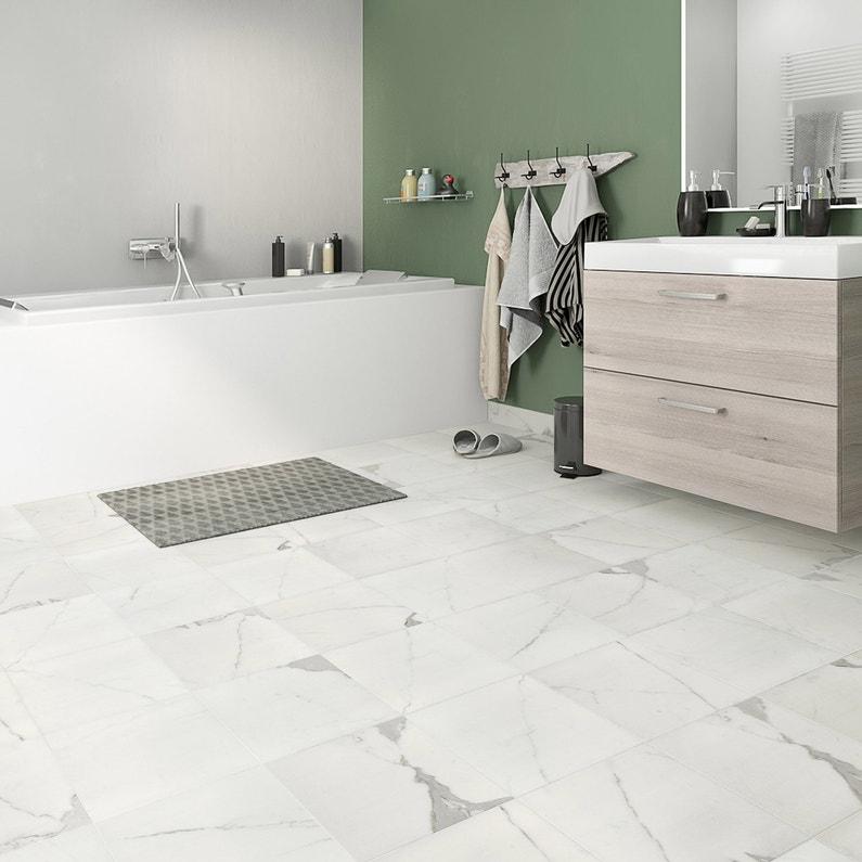 Carrelage Sol Et Mur Blanc Effet Marbre Rimini L30 X Cm