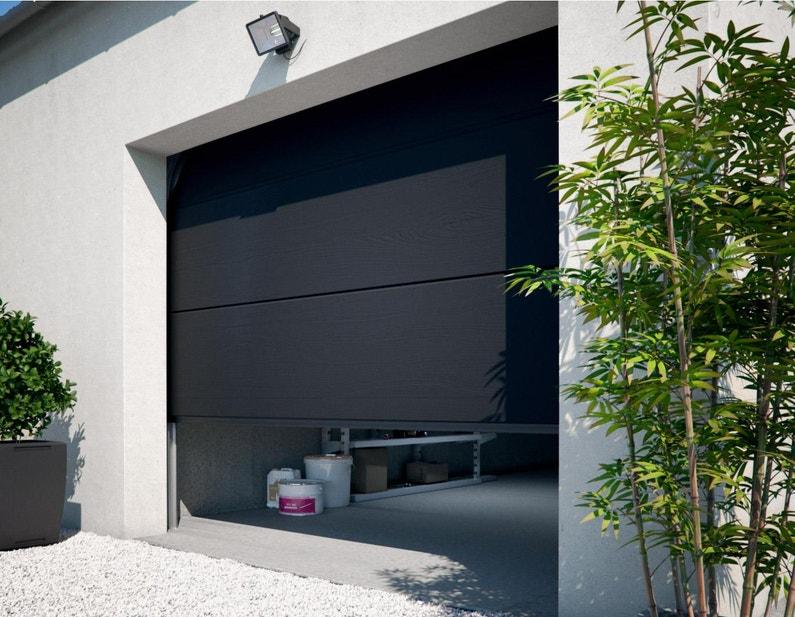 Porte De Garage Sectionnelle Motorisée Primo H 200 X L 240 Cm
