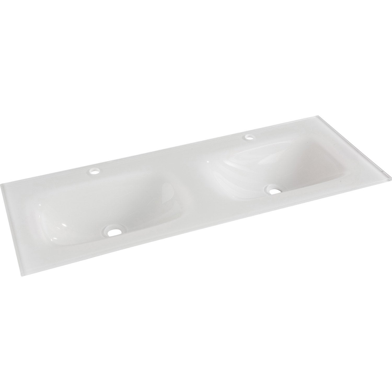 plan vasque double opale verre tremp 121 cm leroy merlin. Black Bedroom Furniture Sets. Home Design Ideas