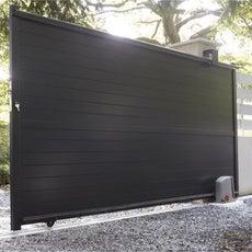 portail coulissant en aluminium jena x cm. Black Bedroom Furniture Sets. Home Design Ideas
