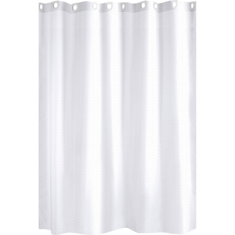 rideau de douche en textile blanc x cm glitter sensea leroy merlin. Black Bedroom Furniture Sets. Home Design Ideas