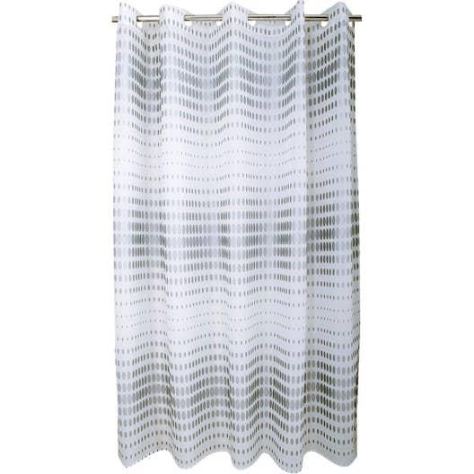 rideau de douche en textile argent x cm flash. Black Bedroom Furniture Sets. Home Design Ideas