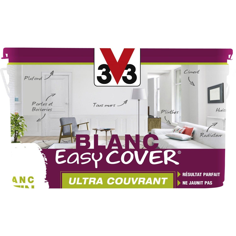 Peinture Blanche Mur, Plafond Et Boiserie Easy Cover V33, Satin 5 L