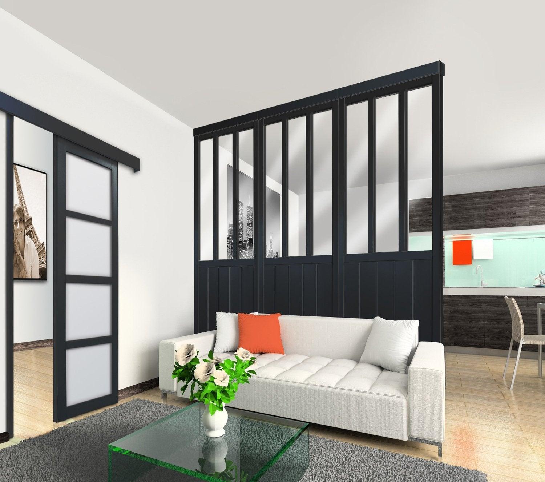 elegant une cloison style verrire duatelier en sparation. Black Bedroom Furniture Sets. Home Design Ideas