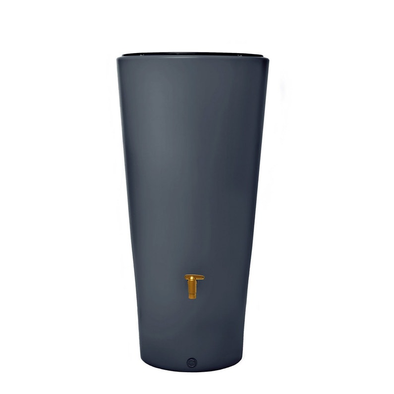 Récupérateur D Eau Aérien Garantia Vaso Cylindrique Graphite 220 L