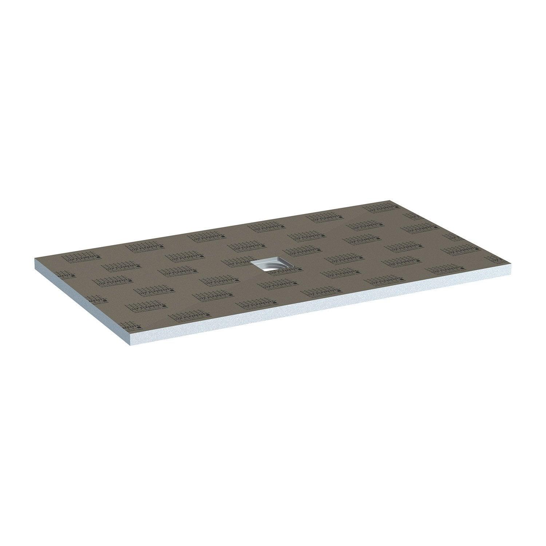 receveur de douche à carreler rectangulaire l.160 x l.90 cm, lux