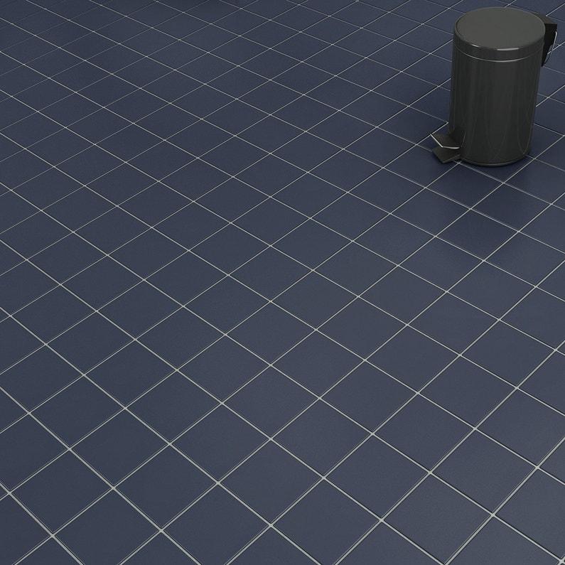 Carrelage Sol Et Mur Bleu Fonce Effet Uni Unico L X L Cm - Carrelage piscine et tapis bleu foncé