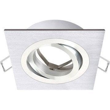 Anneau pour spot à encastrer Giove orientable sans ampoule INSPIRE aluminium
