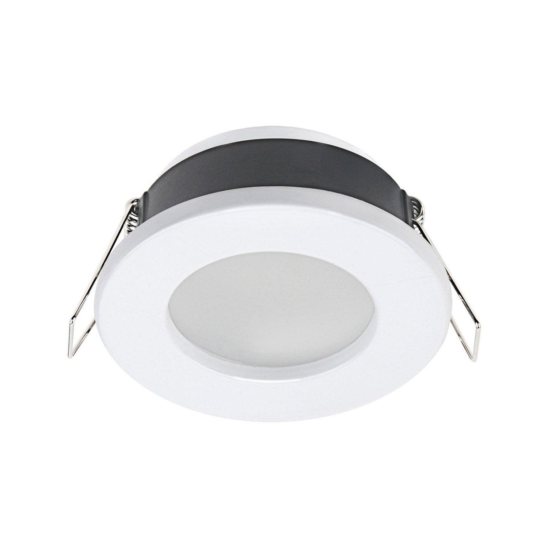 Anneau pour spot encastrer salle de bains lecco fixe inspire blanc leroy merlin - Spot led pour salle de bain ...