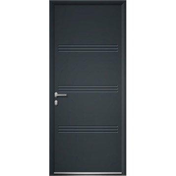 Porte d 39 entr e porte aluminium pvc bois porte - Porte entree alu leroy merlin ...