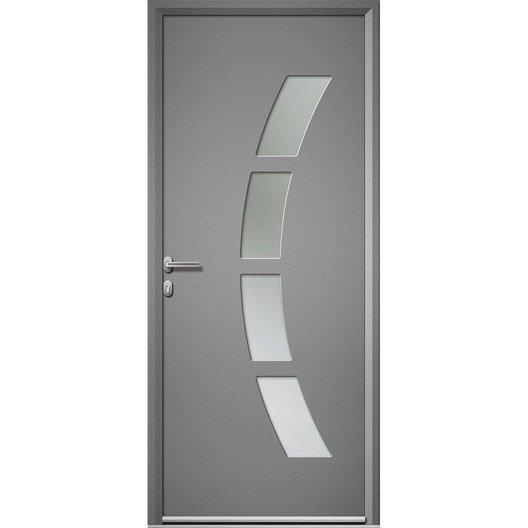 porte d 39 entr e aluminium toledo artens poussant gauche x cm leroy merlin. Black Bedroom Furniture Sets. Home Design Ideas
