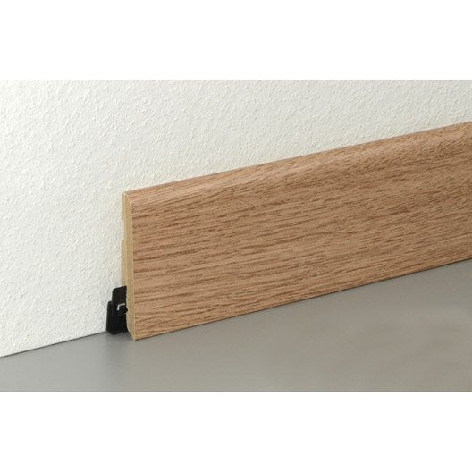 plinthe sol stratifi effet ch ne blond cm x x mm leroy merlin. Black Bedroom Furniture Sets. Home Design Ideas