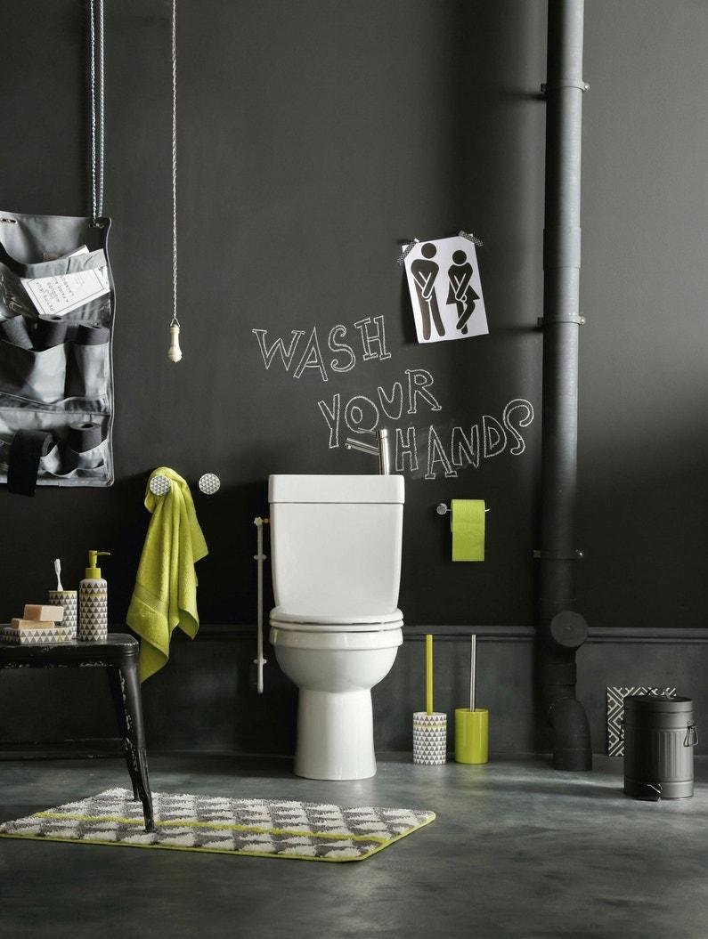 un tableau ardoise dans les wc pratique pour se laisser des petits mots leroy merlin. Black Bedroom Furniture Sets. Home Design Ideas