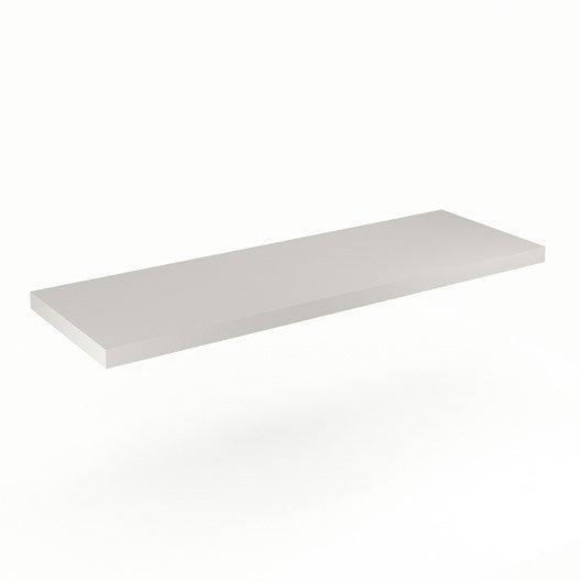 Plan de toilette neo line panneau de particules 150 cm leroy merlin - Panneau de particules ...