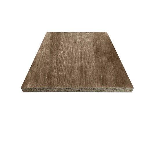 tablette papier noyer roman 2, l.250 x l.50 cm x ep.18 mm | leroy