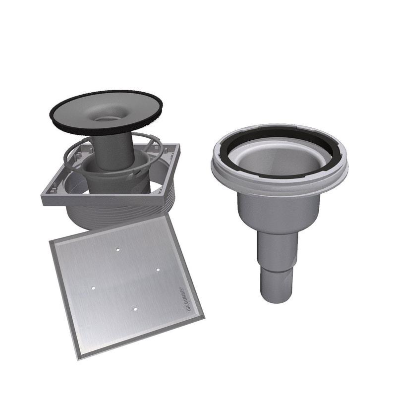 siphon sortie verticale avec grille carreler leroy merlin. Black Bedroom Furniture Sets. Home Design Ideas