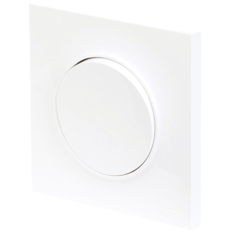 Plaque Simple Odace Schneider Electric Blanc