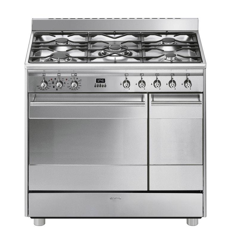 bas prix c9356 91295 Cuisinière gaz, 5 foyers SMEG Scb92mx8