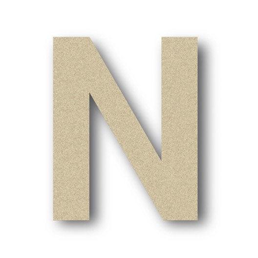 Lettre bois majuscule n 6 cm x 6 cm leroy merlin - Z en majuscule ...