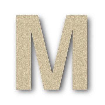 Lettre bois Majuscule m 6 cm x 6 cm
