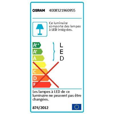 Projecteur à fixer extérieur Noxlite LED integrada 8 W = 430 Lm, anthracite  OSRA