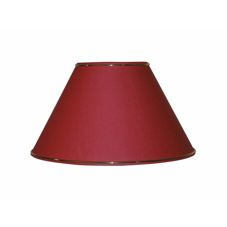 abat jour sweet 40 cm percale rouge de chine leroy merlin. Black Bedroom Furniture Sets. Home Design Ideas
