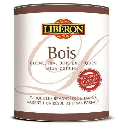 Primaire bois anti tanin liberon blanc 0 5 l leroy merlin for Produit liberon bois