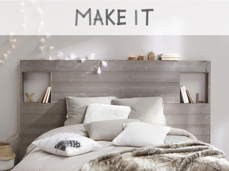 Diy r aliser une t te de lit en lambris leroy merlin - Tete de lit en mdf ...