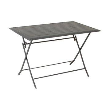 Table de jardin aluminium bois r sine au meilleur prix leroy merlin - Salon de jardin hesperide azua gris ...