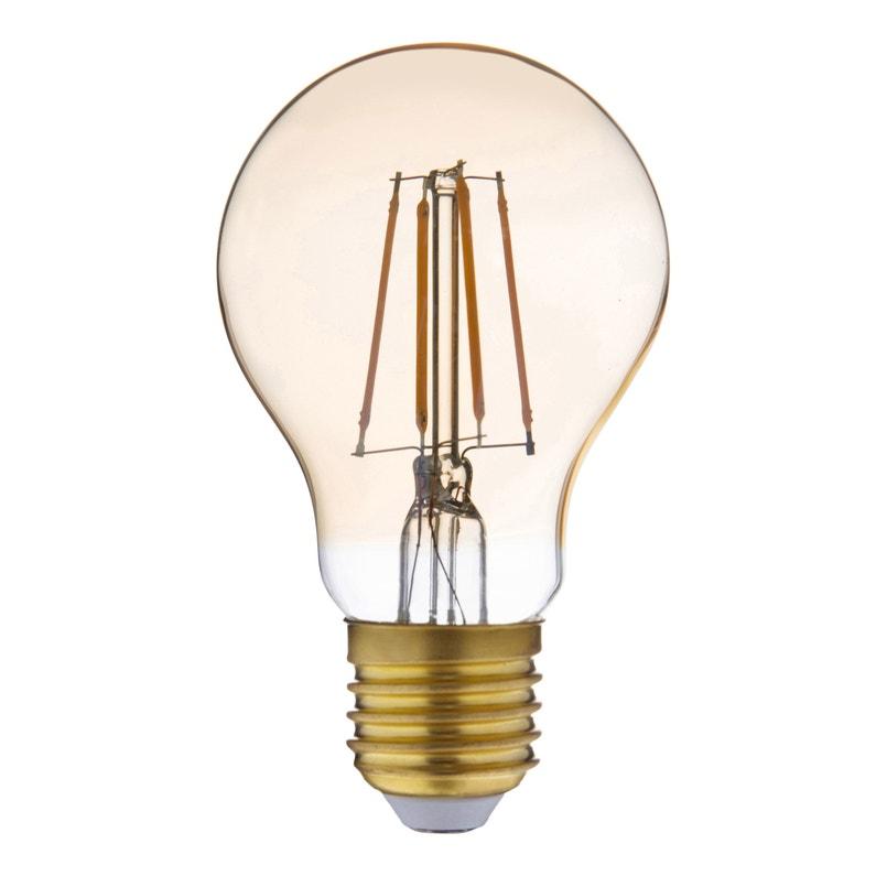 Ampoule Filament Led Standard Vintage E27 4w 470lm équiv 40w 2000k Lexman