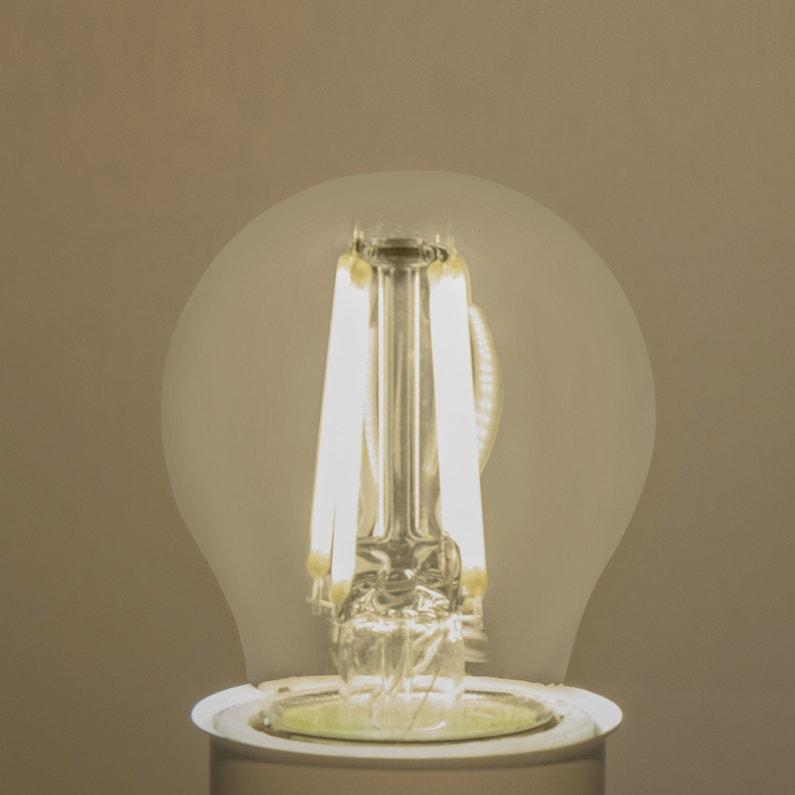 Ampoule Led à Filament Sphérique E27 470 Lm 40 W Blanc Neutre Lexman