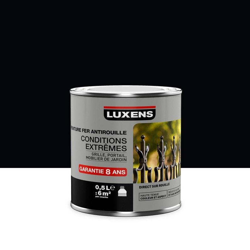 Peinture Fer Extérieur Antirouille Luxens Noir Noir N0 05 L