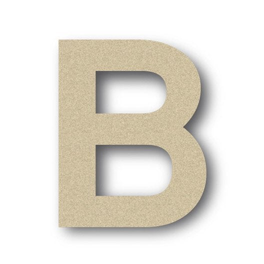 lettre bois majuscule b 6 cm x 6 cm leroy merlin. Black Bedroom Furniture Sets. Home Design Ideas