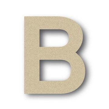 Lettre bois Majuscule b 6 cm x 6 cm