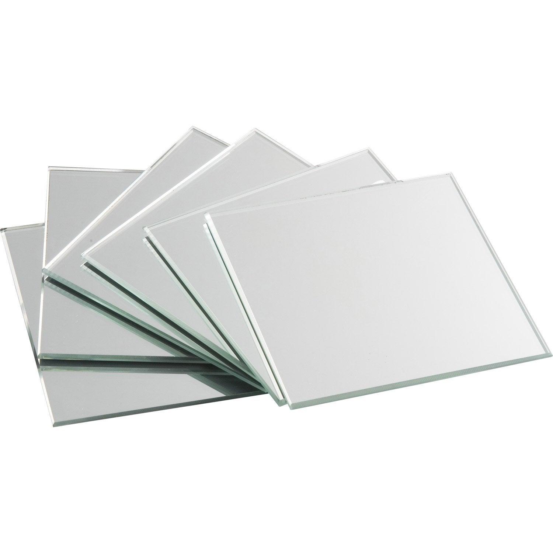 lot de 4 miroirs non lumineux adh sifs carr s x cm leroy merlin. Black Bedroom Furniture Sets. Home Design Ideas