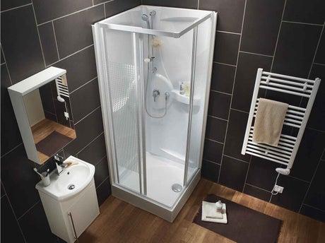 Bien choisir sa cabine de douche leroy merlin for Petite cabine douche